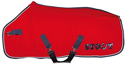 Harry\'s Horse 32201100-02125cm Fleece Decke Stout, M, rot