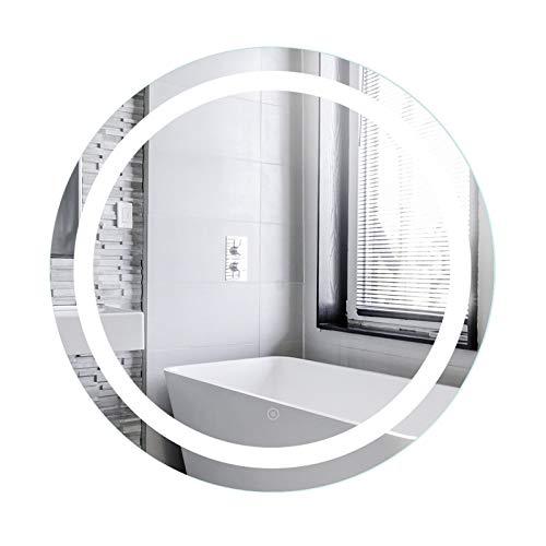 YIZHE Espejo Redondo de Baño,Espejo Pared Antinieble LED con Interruptor Táctil,Espejo LED Premium,Espejo de Pared,Espejo Baño,Espejo...