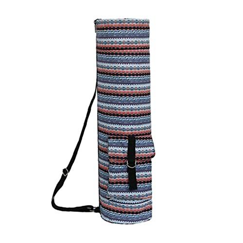 Uayasily Yoga Mat Bolsa De Yoga Portador De La Colchoneta De Ejercicio Lleva Bolso con Almacenaje Multi-Funcional Bolsillos Bolsa Cilindro Étnico para Los Almacenes De Yoga Deportes