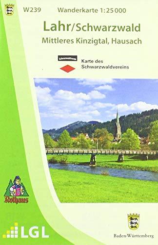 W239 Wanderkarte 1:25 000 Lahr / Schwarzwald: Mittleres Kinzigtal, Hausach
