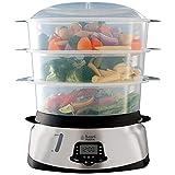Best Food Steamers - Russell Hobbs Maxicook 3 Tier Digital Food Steamer Review