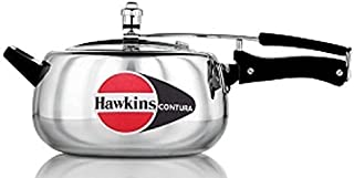 Hawkins HC50 Contura 5-Liter Pressure Cooker, Small, Silver by Hawkins
