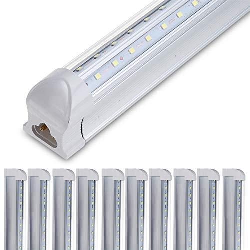 RENZHEN 10 unids 4 pies LED Tubo T8 Lámpara de luz 36W 100LM / W Tubo de Pared Integrado 120 cm 300mm T8 Luces LED SMD 2835 Iluminación Frío Blanco 85-265V