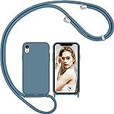 Nupcknn Funda Silicona con Cuerda para iPhone XR, Carcasa Suave Silicona...