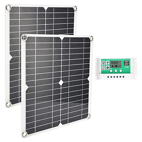 Solar Panel Generator, Light Weight and Portable Design 2pcs Solar Charger for Space Stations Outdoor Breeding for Cars RVs