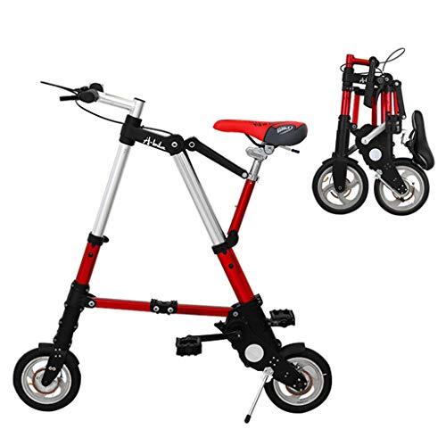 XYDDC Ultraligero 8'/ 10' Mini Bicicleta Plegable Bicicleta portátil Exterior Metro Vehículos Plegables
