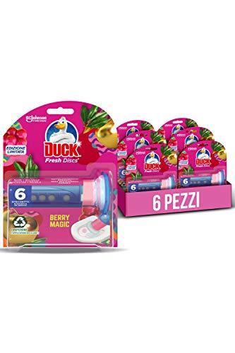 Duck Fresh Discs, Base per Dischi Gel Igienizzanti WC, Profumo Berry Magic, Formato Scorta 6 Applicatori, 36 Dischetti