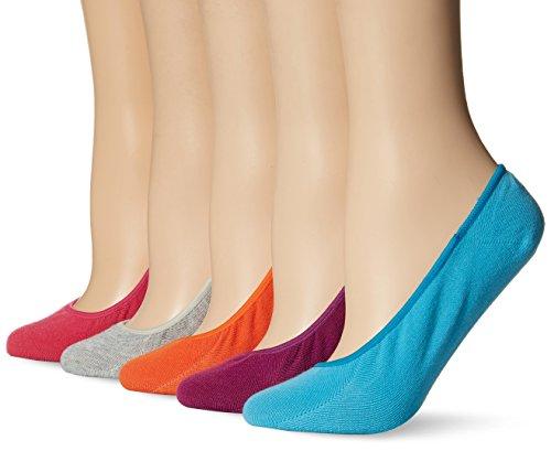 Keds Women's 5 Pack Solid Liner Socks, Cabaret Assorted, Shoe Size: 4-10