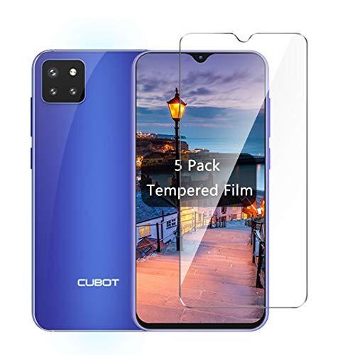 LJSM Vidrio Templado para Cubot X20 Pro [5 Piezas] Protector de Pantalla Proyectar película Protectora Cristal Templado Film para Cubot X20 Pro (6.3