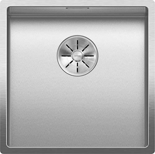 BLANCO 523385 CLARON 400-U Küchenspüle, Edelstahl Durinox, 400 mm Beckenbreite