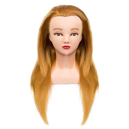 CXZS 50 cm 100% Cheveux Humains Formation Professionnelle tête Pratique modèle de Cheveux poupée Coiffure Style Mannequin avec Formation épaule Style tête