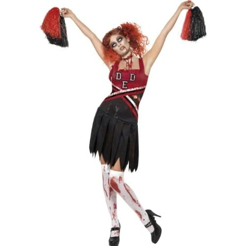 Smiffys Costume High School Horror Cheerleader, comprende Abito e Pompon