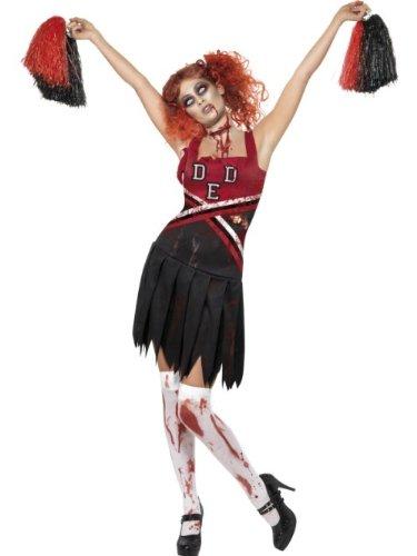 Smiffys Costume cheerleader horreur High School, avec robeet Pom Poms