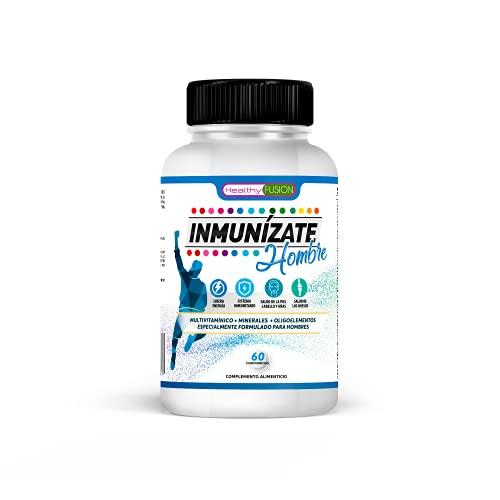 Potente Complejo Multivitamínico para Hombres   Fórmula rica en 27 Vitaminas y Minerales Esenciales   Vitamina C, E, A, B2, B6, B12, K1   Aumenta la energía y vitalidad   Refuerza tus defensas   60U.