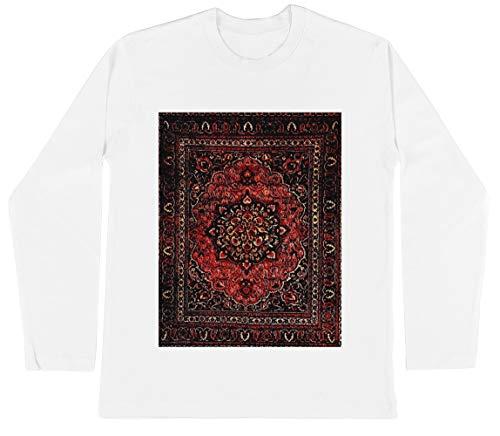 Perzisch Tapijt Kijken In Roos Unisex Kinder Jongens Meisjes Lange Mouwen T-shirt Wit Unisex Kids Boys Girls's Long Sleeves T-Shirt White