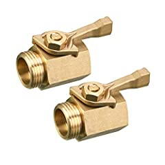 Includes 2 pieces shut off valve for garden hose and 2 pieces complimentary garden hose washers. Garden hose inline shut off valve is made of solid brass. Heavy duty metal construction for durability. Large ergonomic brass handle is designed for comf...