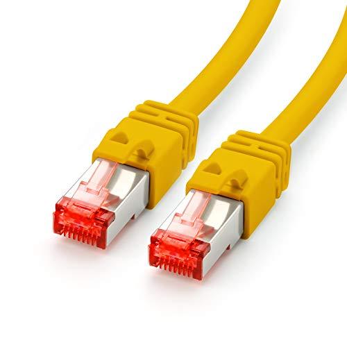 CAT.7 Ethernet Patchkabel (RJ45) | 5m | gelb | LAN-Kabel | Netzwerkkabel | S/FTP | bis zu 10 Gbit/s