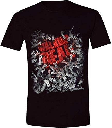 The Walking Dead - Walker Horda - Oficial para Hombre Camiseta - Negro, L