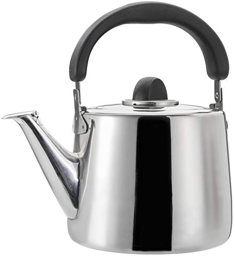 TOPZEA 304 Stainless Steel Tea Kettle, 3 Quart Classic Teapot with Ergonomic Handle Fast Boiling Water Teakettle for Stove Top, Heating Water Kettle, 3L