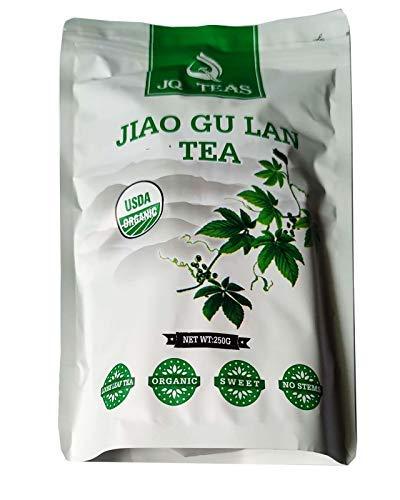 JQ 500g Trocken Sieben Blätter Jiaogulan (Natürliche Süße)Ohne Stängel Unsterblichkeitskraut Gynostemma Pentaphyllum