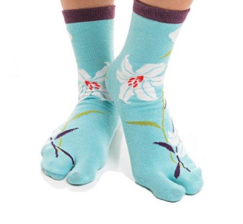 Price comparison product image Vigo Flip-Flop Socks,  Japanese Tabi Toe Socks (Women Size 2-8 / Men Size 1-7,  Orchid)