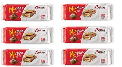 6x Balconi Mix Max Cacao Biskuit mit Schokolade überzogen mit Kakaocreme Mini-Schokoladenkuchen ( 10 x 35g ) 350g