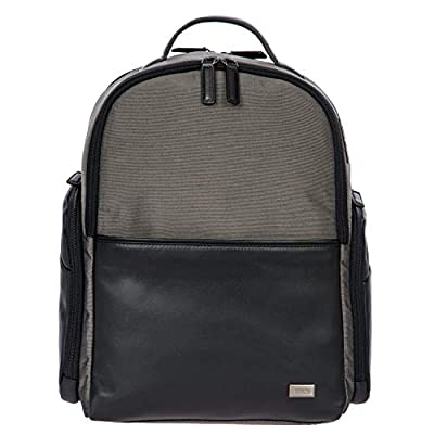 Bric's Monza Medium Laptop Tablet Business Backpack, Grey.Black, One Size