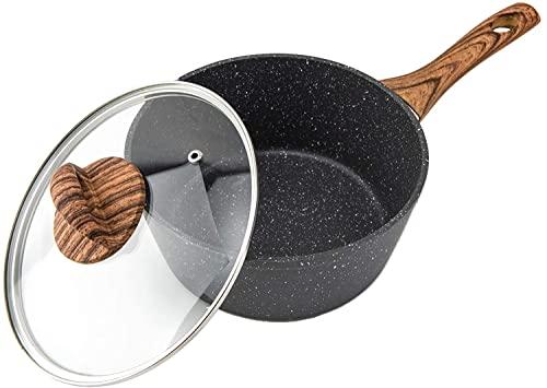 RAINBEAN Pentole Antiaderente Con Coperchio, Pentola Per Induzione, Adatto a Tutti i Tipi di Piano Cottura - Uso multiuso per la cucina domestica o il ristorante, 20 cm / 3L