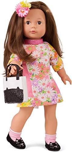 Götz 1790399 Precious Day Girls Elisabeth Puppe Daisy Do - 46 cm große Stehpuppe, braune Haare, braune Schlafaugen - 9-teiliges Set