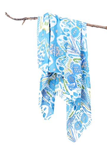 Contrast Living Women's cotton Icemrn Printed Scarves for all session , (100x100 Cm Square Size, Multicolour)