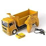 Kioiien Juguete para niños Control remoto Coche 2.4G Modelo de rotación de juguete RC Camión volquete de construcción de ingeniería vehículo coche control remoto control remoto juguetes de vehículos f