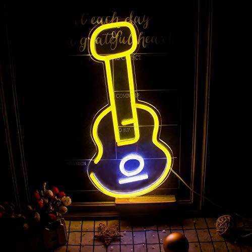 """Violine führte Leuchtreklamen Große Neonlichtschilder Gelbe und weiße Wandleuchte Dekoratives Schild für Schlafzimmer Kinderzimmer Coffee Shop Pub Valentinstag USB-Betrieb (17""""x 8,3"""")"""