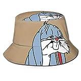 Sombrero de Sol con Cubo de Conejo Cansado para Hombres y Mujeres - Gorra de Pescador de Verano Empacable de protección para Pesca, Safari, navegación en la Playa Negra