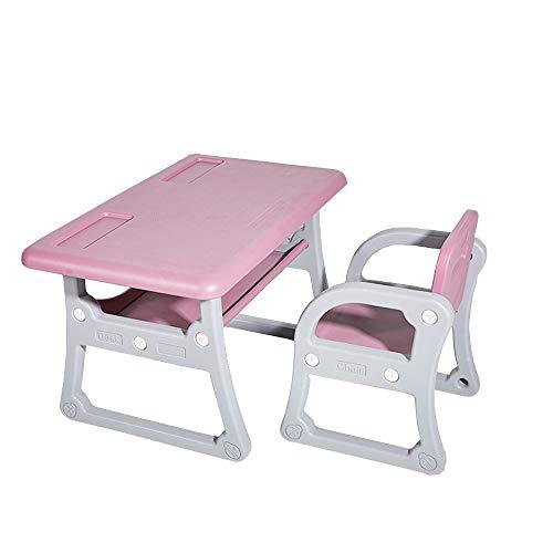 Rehausseur de Poche Table avec Chaises Play Set for Les Enfants (Couleur : Rose, Taille : 79x50/52x39.5cm)