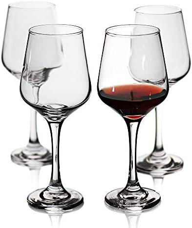 Wine Glasses Set of 4 Durable Red Wine Glasses for Bordeaux Cabernet Shatter Resistant White product image