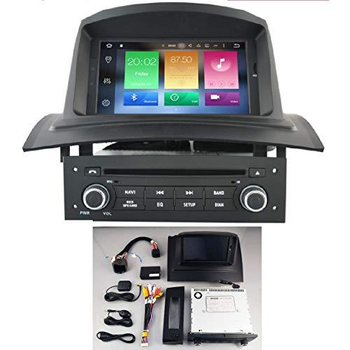 KASANDROID Android 10.0 Radio kasandroid Compatible con Renault Megane II Quad Core 2GB RAM 16GB ROM GPS Coche DVD Auto Radio WiFi 3g 4g navi navegador Internet/Mirror Link/ 2005-2006 2007 2008 2009