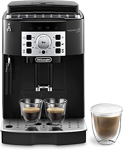De'Longhi Magnifica S ECAM22.110.B Macchina da Caffè Automatica per Espresso e Cappuccino, Caffè in Grani o in Polvere, 1450 W, Nero [Esclusiva Amazon]