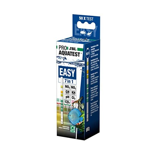 JBL Aquarienwasser, 50 Teststreifen, PROAQUATEST EASY 7in1