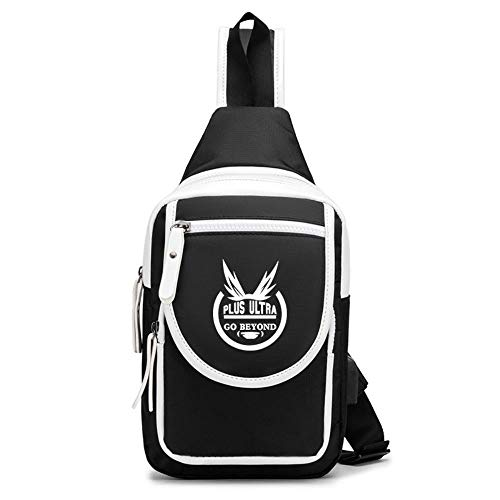 JJZZ Anime Cosplay My Hero Academy Student School Bag Shoulder Bag Canvas Shoulder Bag Travel Bag 8