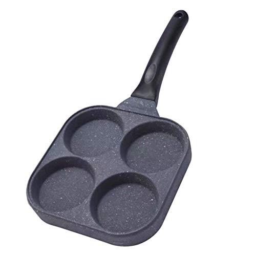 Eierpfanne, Antihaft-Kocher Muffinformen 4-Loch-Omelett-Pfannkuchentöpfe, Gasherd Gebratene Pochierte Backform Zum Pochieren Von Eiern