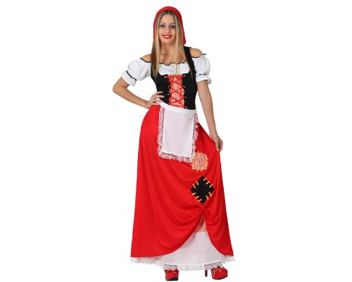 Atosa-17248 Atosa-17248-Disfraz Pastora mujer adulto-talla M-L rojo-Navidad, color (17248)