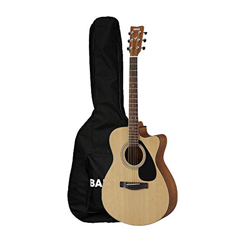 Yamaha FS80C The Ultimate Concert Body Cutaway Acoustic Guitar (Natural) With Bajaao Gig- Bag
