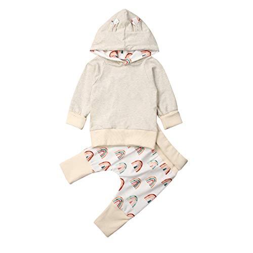 Borlai Casual trainingspak sweatshirt hoodie van pasgeborenen baby 2 stuks keucht uitrustingsklaag