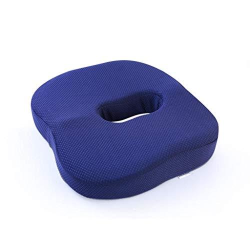 ZWW Amortiguador de Asiento de Espuma de Memoria postoperatorio Cojín caudal de descompresión protección contra Las fracturas hemorroides cojín ano Soporte coxis Cojín Azul