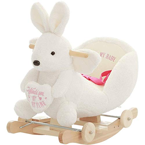 Children's Toy Rocking Chair Small Rocking Horse Music Dualuse Wood Rocking Wooden Horse Car Birthday Gift