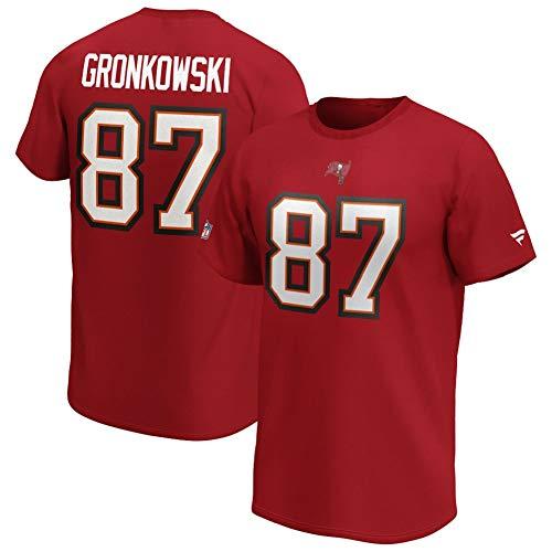 Fanatics NFL T-Shirt Tampa Bay Buccaneers Rob Gronkowski Gronk #87 rot Iconic Name & Number Trikot Jersey (3XL)