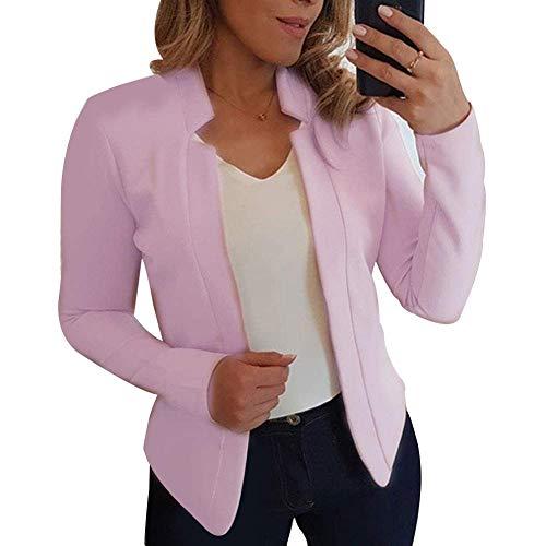 Zeaih vrouwen Blazer, dunne lange mouwen Blazer Solide, Kleur Office Lady pak jas voor werk Office Business