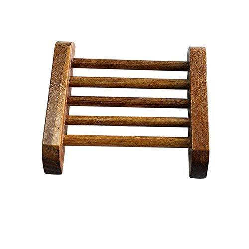 Miner 1PCS Zeepbakjes Zeephouder Case Roestvrijstalen Houten Badkamer Accessoires Roestbestendige Saver Basket Voor Badkamer, 6