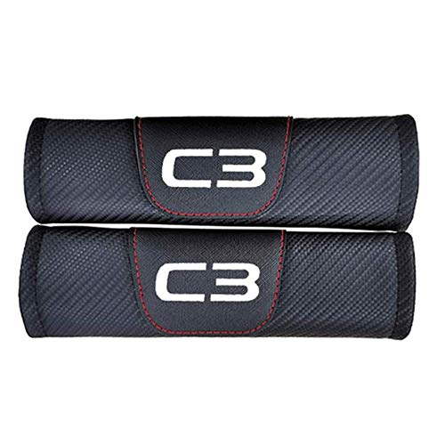 2 Piezas Coche Almohadillas Para CinturóN De Seguridad Para Citroen C3 All Models, Fibra De Carbono Protectores De Hombro Cobertores Seat Belt Padding Shoulder Protectora Pad, Auto Accesorios