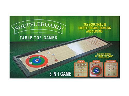 bulk buys Multipurpose Design 3 in 1 Shuffleboard Tabletop Game, Plastic